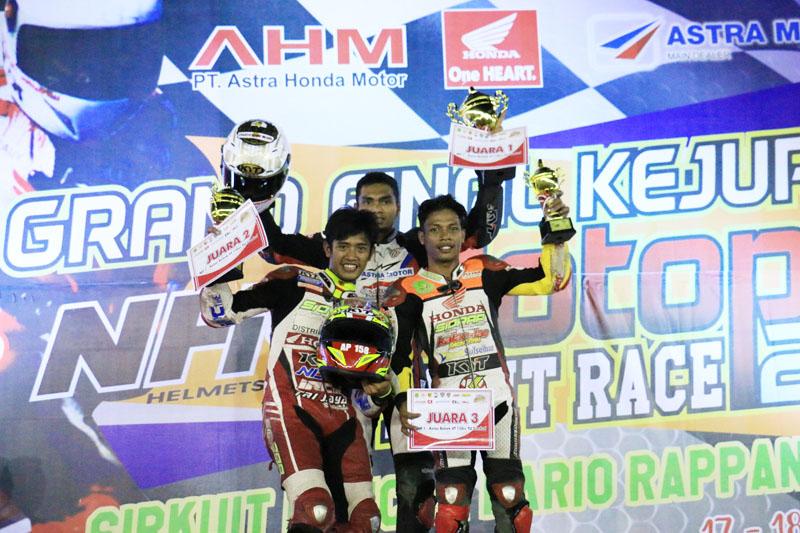 Pembalap Honda Kuasai Grand Final Motoprix Sidrap 2016