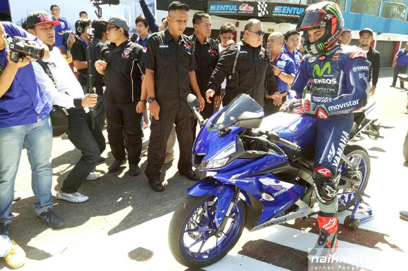 Vinales luncurkan All New Yamaha R15 di Sentul
