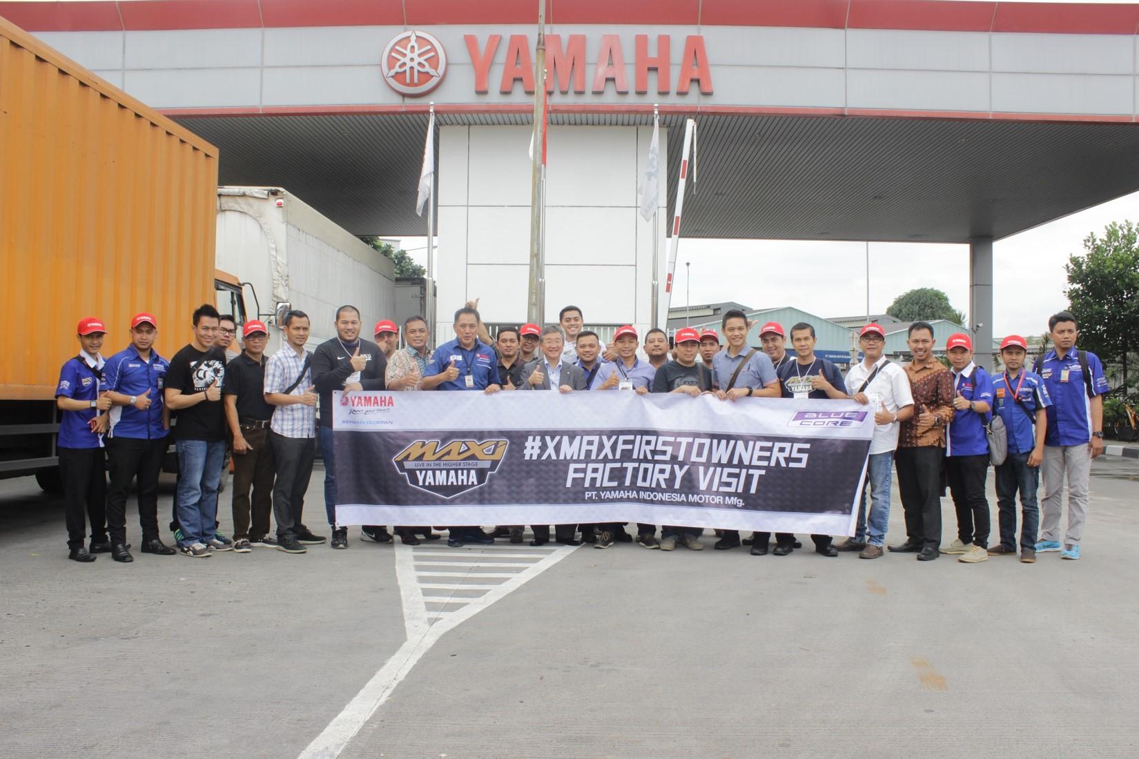 Para Penginden XMax Diundang dalam Yamaha Factory Visit