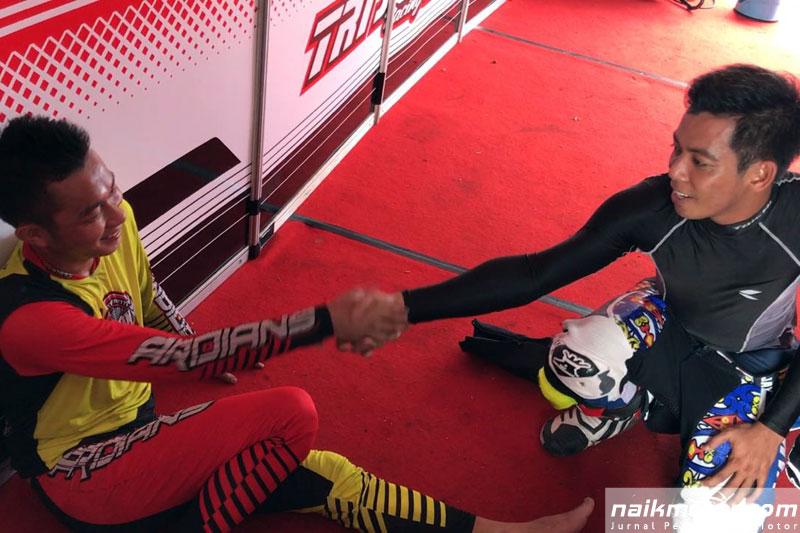 Tindakan Sportif Gupita Datangi Paddock Honda Trijaya