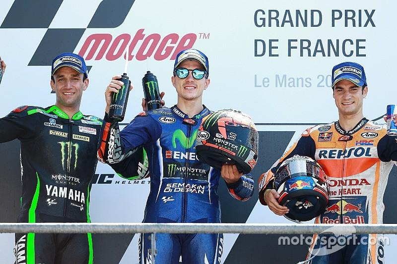 Rossi Jatuh, Vinales Juara MotoGP Le Mans Perancis
