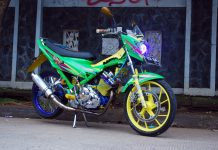 Modifikasi Suzuki Satria FU150 2014 Bunglon
