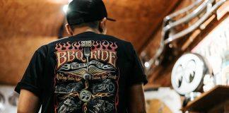 Kaos Kolaborasi BBQ Ride 2019 x Mooneyes Karya Wildman