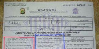 Surat Teguran PSBB