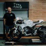 Putu Ajus, builder Yard Built Indonesia (AMS Motorcycle Garage) dengan XSR 155 Sang Macan Cafe Racer